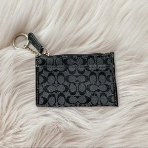 Small Black Signature Coach Coin Purse